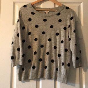 J Crew 3/4 sleeve sweater